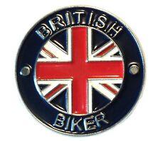British Biker Classic 1960's Motorbike Motorcycle Rocker Metal Enamel Badge