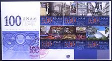 Mexico 2010 FDC National University 100th Anniv UNAM Soccer Music Paintings XF