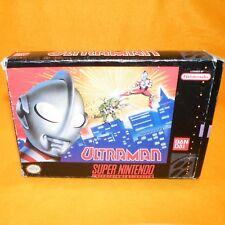 VINTAGE 1991 SUPER NINTENDO ENTERTAINMENT SYSTEM SNES ULTRAMAN GAME NTSC BOXED