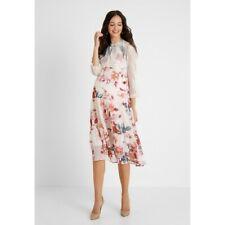Mamalicious Dress S Veronica Woven Midi Maternity Summer Occasion BNWT