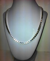 Sterling Silver 925 Smooth 4 Sides Diamond Cut Box Chain Bracelet Lobster Clasp