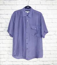 Vintage Island Republic 100% Silk Purple Shirt Size M