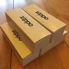 LOT OF 5 Zippo Manufacturing Company White Empty STORAGE BOX For Boxed Lighters