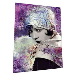 """1920s Art Deco Lady """"Rose"""" Wall Art Poster"""