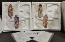 4 Bradford Exchange Heavens Little Angels Ornaments By Edgan Jarins w/ COA