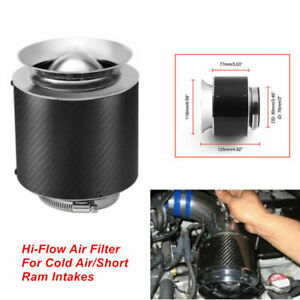 "1PCS 3"" Inlet Carbon Fiber Look Hi-Flow Air Filter For Cold Air/Short Ram Intake"