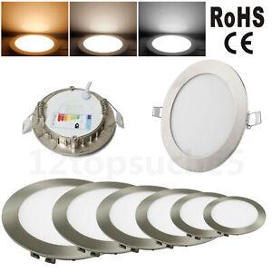 Panneau LED Lampe Spot Encastré 230V Rond Spot Encastrable Plafonnier Dimmable