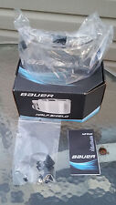 New Bauer RBE 1 Certified Ice Hockey Helmet Clear Half Shield Fits Most Brands