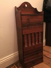 Polished Wood French Huche A Pain / Baguette Box Or Bread Bin (1000)