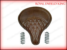 Royal Enfield 350cc & 500cc Standard Leather Brown Color Seat With Spring