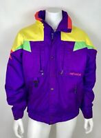 NEVICA Mens 44 Large XL SKI Coat Neon Color Block Snow Winter Water Resistant