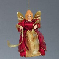 """Premier Christmas 6"""" Tree Top / Hanging Angel Decoration - 4 Colours"""