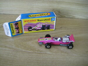 MATCHBOX SUPERFAST (69-83) MB34A  Met PURPLE  Yellow/White Striping No16   NW