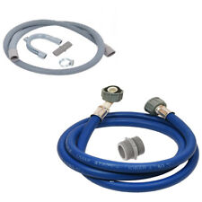 Washing Machine Hose Water Fill Pipe & Drain Outlet Hose Extension Kit 2.5 Metre