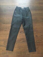 Hugo Buscati Leather Pants Womans Color Black Size 6 NWT
