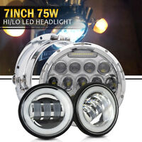 7inch  LED Headlight Bulb Passing Lamp for Harley Davidson Touring