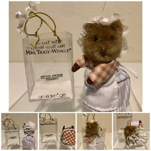"Vintage Beatrice Potter Mrs Tiggy-Winkle Eden Gifts 4"" Figure Toys Collectible"