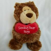 "Valentines 11"" Teddy Bear Plush Stuffed Animal Heart ""Sending Bear Hugs"" Aurora"