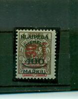 Memel, auf französischer Marke Nr. 232 postfrisch **