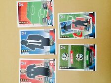 MATCH ATTAX 2014 2015 FULL SET OF 5 TACTIC CARDS