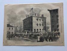 1861 Frank Leslie's Civil War Print Custom House At Wheeling Virginia #43018