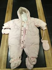 ADORABLE DIOR PINK BABY SNOW SUIT/AGE9MONTHS/USED GOOD CONDITION