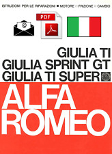 ALFA ROMEO GIULIA TI - SPRINT GT - SUPER TI Workshop Manual ITA - ENGINE CLUTCH