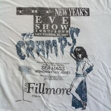 Vintage THE CRAMPS 1987 NEW YEAR'S EVE CONCERT T- SHIRT SEA HAGS 80s tour