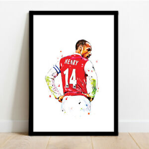 ARSENAL - THIERRY HENRY FRAMED ART PRINT