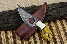 MH KNIVES CUSTOM HANDMADE DAMASCUS STEEL FULL TANG HUNTING/SKINNER KNIFE MH-403A