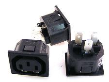 Bulgin P695 Push per 2mm Montaggio Pannello IEC Presa 10A 250V B2 3 Pezzi OL0302
