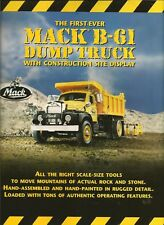 No TRUCK Franklin mint Brochure/paperwork for a Mack B61 dump truck