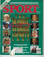 1987 DEC Sport Magazine baseball Andre Dawson Chicago Cubs, Bobby Knight Indiana