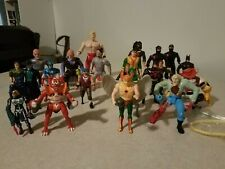 Vintage used action figures mixed lot Dc Hawkman / Hook /Karate Kommandos etc.