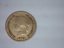 1861 Philippines Gold 1 Peso VF (.0476 AGW) Circulated