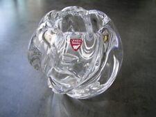 Edele Designer Orrefors Vase Schweden, signiert, Wellen - Form, Höhe ca. 11 cm