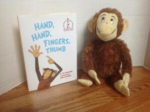 Kohl's Plush MONKEY & HB Book Hand Fingers Thumb by Al Perkins CUTE & CLEAN