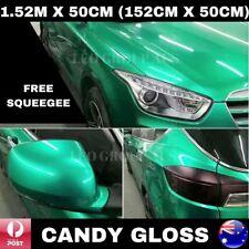 1.52M X 50CM CANDY GLOSS TIFFANY BLUE / TURQUOISE METALLIC CAR VINYL WRAP FILM
