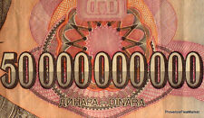 YOUGOSLAVIE billet USED  50 MILLIARD de DINARS Pick136  MILAN OBRENOVICH 1993