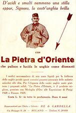 PUBBLICIT. LA PIETRA D'ORIENTE, RE & GARDELLA MILANO  m
