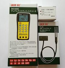 DER EE DE-5000 High Accuracy Handheld LCR Meter with TL-21 TL-22 New Japan