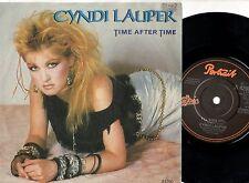 CYNDI LAUPER disco 45 giri TIME AFTER TIME Made in UK 1994 stampa INGLESE