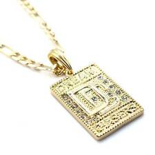 "ICED OUT DREAM CHASERS DC THE HOMIE MEEK MILL PENDANT W 24"" FIGARO CHAIN JSP014G"