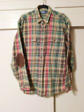 POLO Ralph Lauren Elbow Patch Plaid Flannel Button Shirt XL
