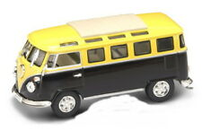 VW T1 Microbus Yellow/Black+Display Cabinet, Yat Ming Model 1:43