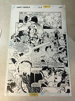 GREEN LANTERN 3D #1 original comic art STUNNING BATTLE, DR LIGHT KILLS GL CORPS
