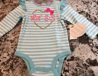 NWT BABY GIRL LITTLE SISTER SHIRT/ BODYSUIT SIZE 3-6 MONTHS