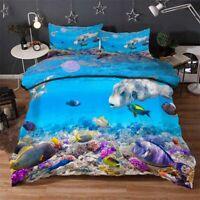 Swim Coral Fish 3D Printing Duvet Quilt Doona Covers Pillow Case Bedding Sets
