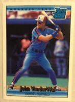 JOHN VANDERWAL 1992 Donruss RATED ROOKIE Card RC EXPOS # 414