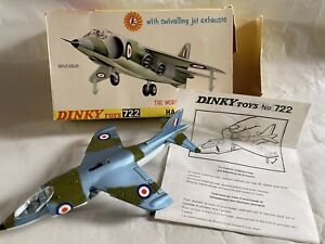 WORKING DIECAST DINKY TOYS RAF HAWKER HARRIER VTOL JET FIGHTER AIRPLANE PLANE